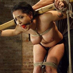 Katrina Jade is tied