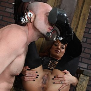 leather chick femdom