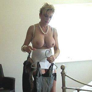 Mature in lingerie
