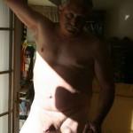 Daddy posing naked
