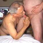 Older men blowing