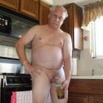 Mature man in toilet