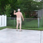 Man naked in public
