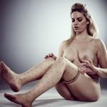 Kate Banks shows pantyhose