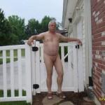 Mature man exposing
