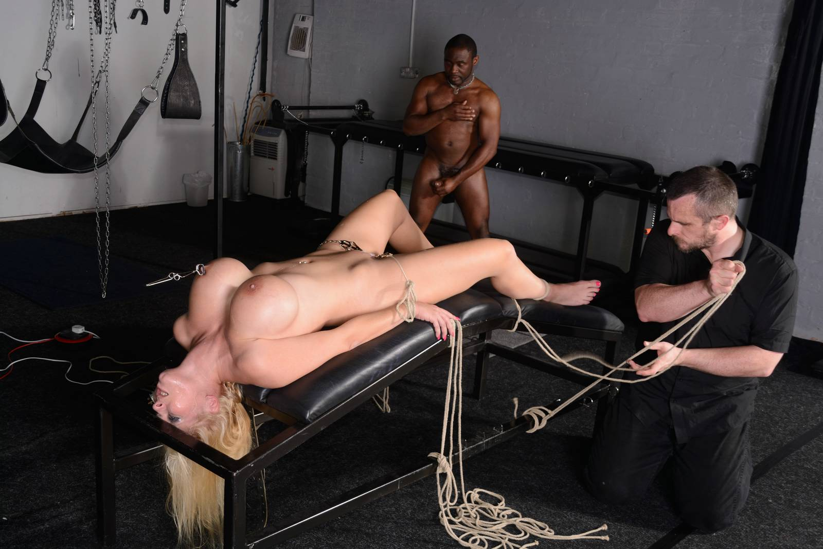 Angela white begs to suffer for her master in metal bondage kink humiliation, flogging watch online