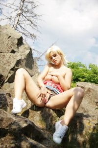Blondes Public Nudity