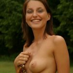 brunette shows pussy