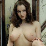 brunette shows tits