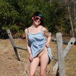 Striptease at farm