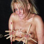 Crystels breast bondage