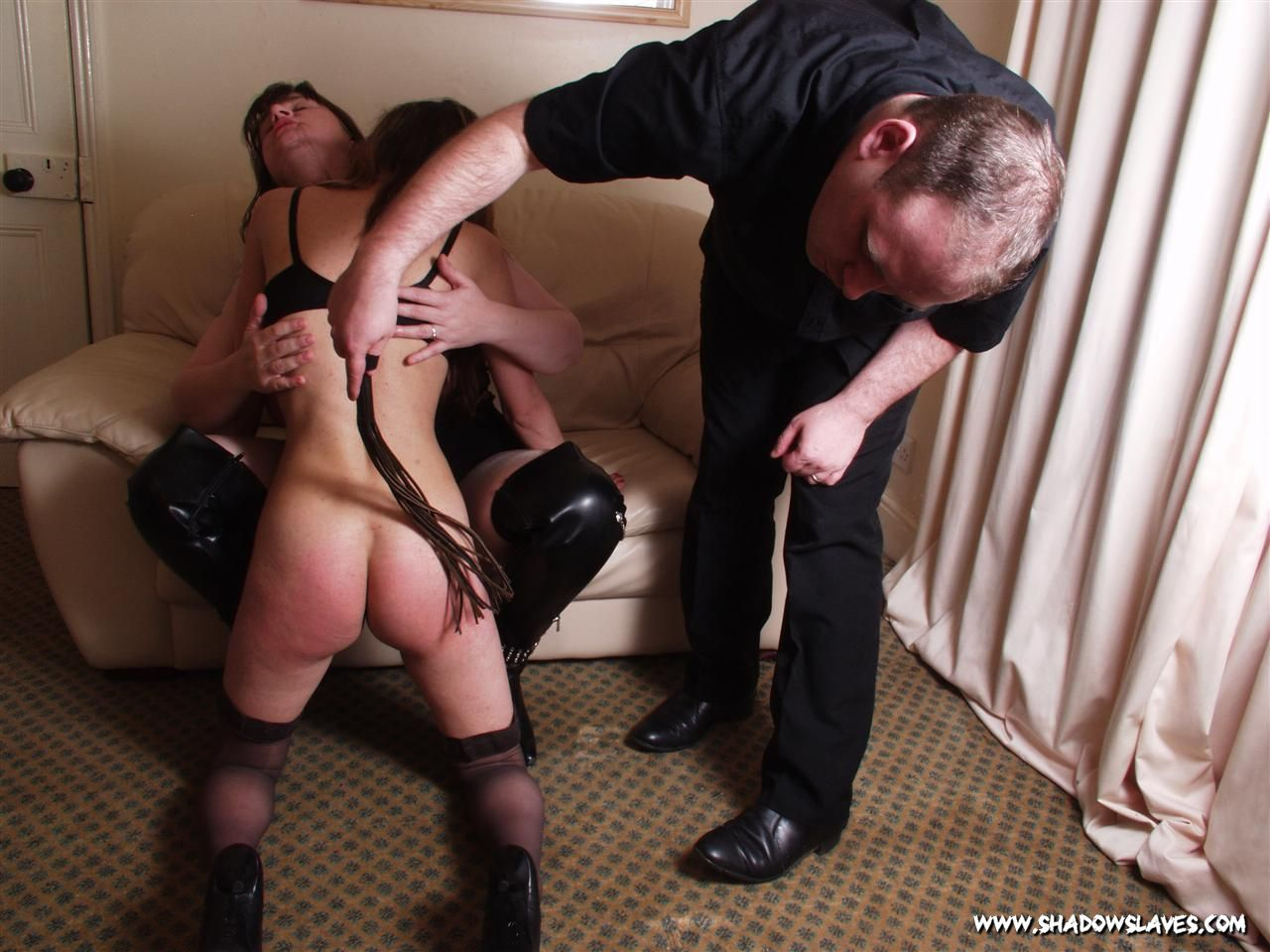 Emmas double domination and spanking