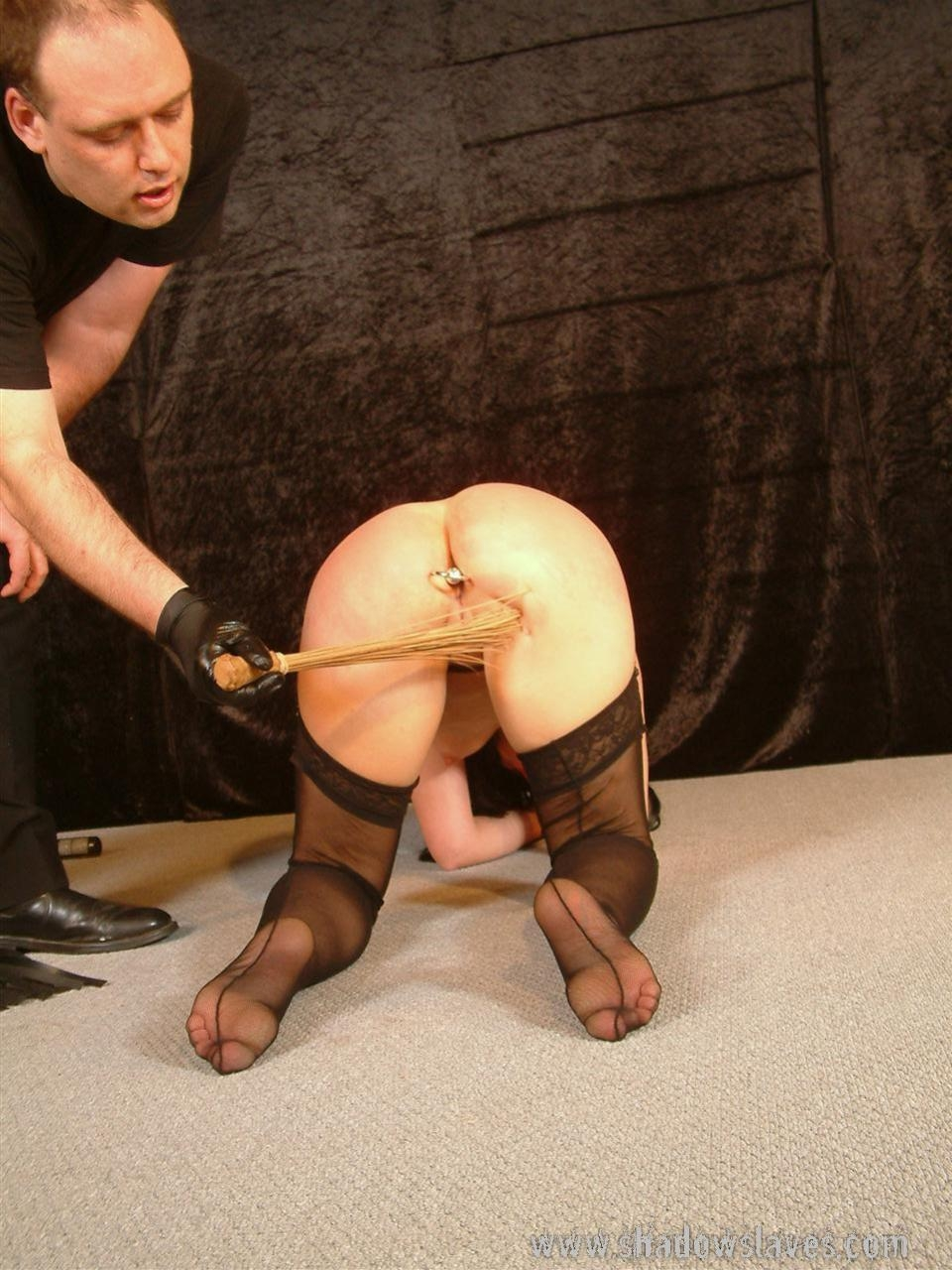 Spanking the wife in stockings