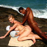 Big Black Cocks in Tight Blonde Anal Holes Outdoors